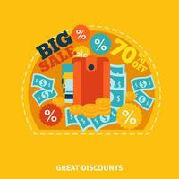 Grote verkoop winkelen samenstelling vector