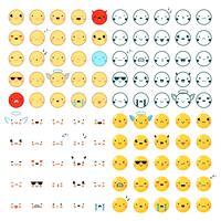 emoticons grote reeks vector