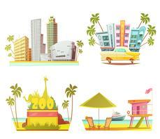 Miami 2x2 ontwerpconcept vector
