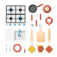 Keukengerei Icons Set vector