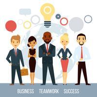 Zakelijke samenwerking van mensen wereldwijd