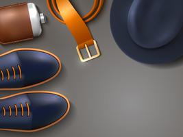 Mannen Mode Concept Illustratie