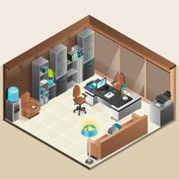 kantoorruimte ontwerp vector