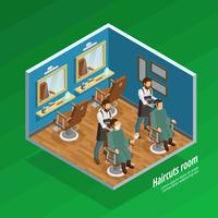 Haircut Room Concept vector