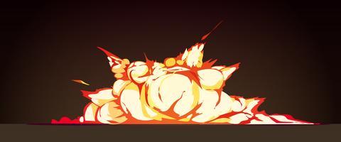 Cluster Explosie Zwarte Achtergrond Retro Posterr vector