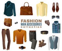 Mode Man Accessoires Collectie vector