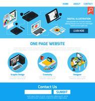 Grafisch ontwerpsjabloon voor website vector