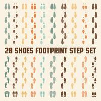 Schoenen voetafdrukken Kleurrijke nummers Set