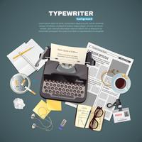 Journalist typemachine achtergrond