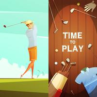 Golf 2 Retro verticale bannersenset
