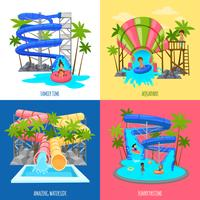 Aquapark ontwerpconcept vector