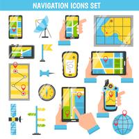 Navigatie Flat Color decoratieve pictogrammen