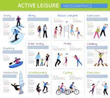 Actieve vrijetijdsbesteding mensen Infographics