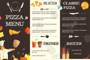 Pizza platte menu voor restaurant vector