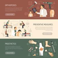 Orthopedie en traumatologie Horizontale banners vector