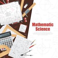 Wiskundige wetenschap achtergrond Poster vector