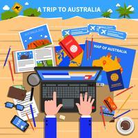 Reis naar Australië illustratie vector