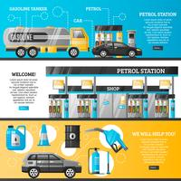 Benzinepompbanners vector