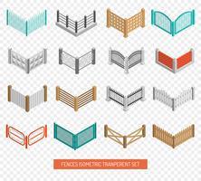 Hekken Types Pictogrammen Isometrische Transparante Set
