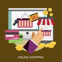 Online winkelen Conceptuele afbeelding ontwerp
