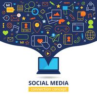 Sociale media illustratie vector