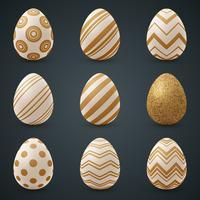Gouden ei en ster - naadloze sjabloon