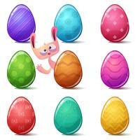 Gelukkige Pasen, vastgesteld kleurenei.