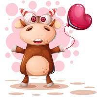 Cartoon grappige herten - koe karakters. vector