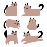 kat karakter vector ontwerp