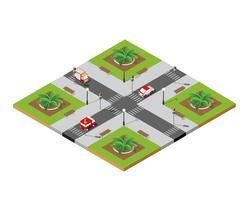 Crossroads stad straat vector