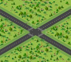 Kruispunt van stadsstraten vector