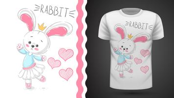 Danskonijn - idee voor print t-shirt vector