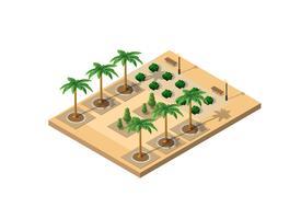 Isometrische 3D-park