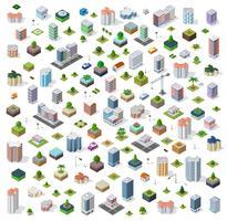 Isometrische stad straat vector