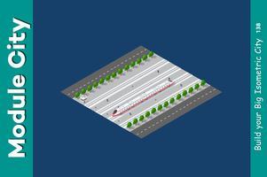 Isometrische 3D-transporttrein vector