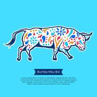 Bumba Meu Boi Bull Illustratie vector
