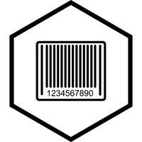 Barcode pictogram ontwerp