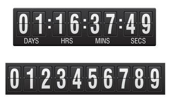 scorebord countdown timer vectorillustratie
