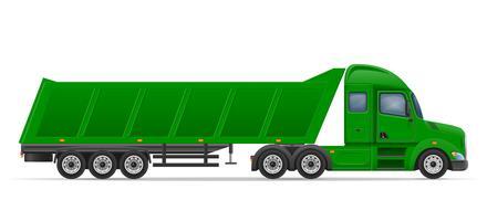 vrachtwagen oplegger voor transport van goederen vectorillustratie