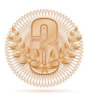 laureaat krans winnaar sport bronzen voorraad vectorillustratie
