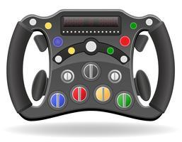 stuurwiel van raceauto vectorillustratie EPS 10