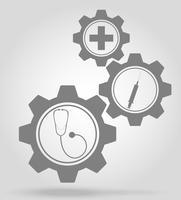 geneeskunde versnelling mechanisme concept vectorillustratie vector