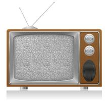 oude tv vectorillustratie