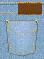 jeans textuur met zak vector
