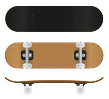 skateboard vectorillustratie
