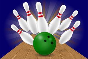 bowling bal en pin vectorillustratie vector