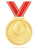 medaille winnaar sport goud voorraad vectorillustratie vector