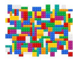 achtergrond van elementen de plastic constructor bovenaanzicht vectorillustratie
