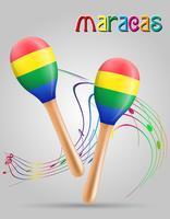 maracas muziekinstrumenten voorraad vectorillustratie
