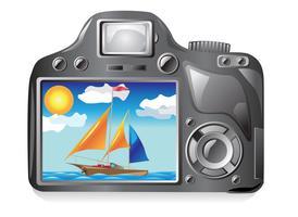 fotocamera en beeldfotografie vector